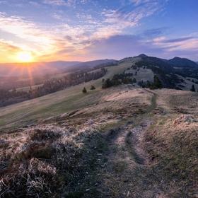 Východ slunce v Pieninách