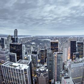 Tak ještě z druhé strany, pohled na Central Park. Posuďte sami, který snímek je hezčí :)