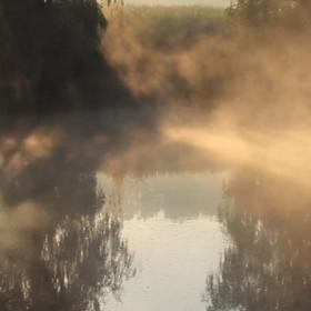 Ráno u vody................