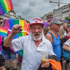 Veselý Američan v Praze