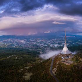 Liberec v bouři