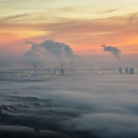 Industriální ráno na Mostecku