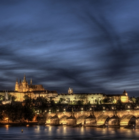 Prague Castle with Charles Bridge
