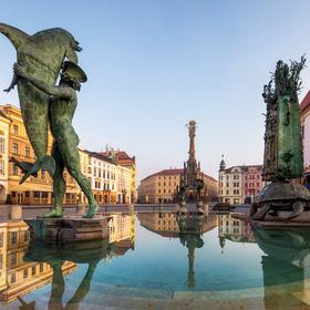 Ráno na Horním náměstí v Olomouci