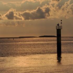 Západ slunce v Bremerhavenu