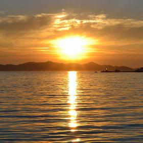 Západ slunce nad Sukošanem