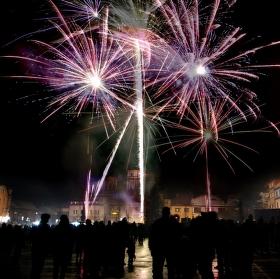 Příchod Nového roku v městě Přeštice