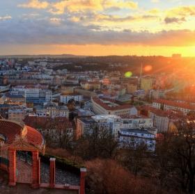 Západ slunce v Brně