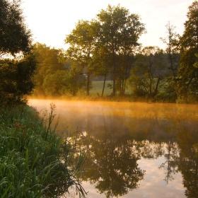 ráno pozdního léta na Sázavě
