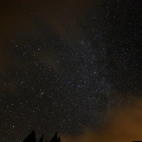 pokus o fotku nočnej oblohy