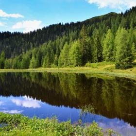 zrcadlení,Kleinarl, Rakousko