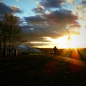 Harmonie zapadajícího slunce