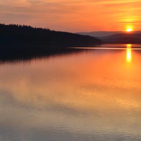 Západ slunce na Slezské Hartě