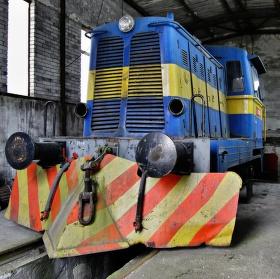 Opuštěná  lokomotiva