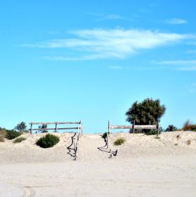Na pláži v Saintes Maries de la Mer