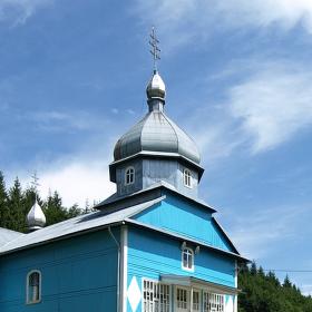 Ukrajinské kopce a kostoly