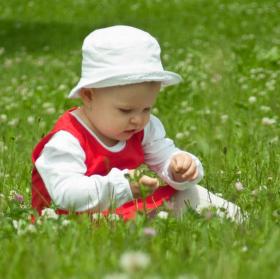 Pohodička v trávě