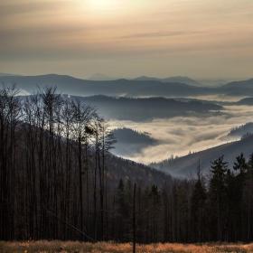 Ráno v Kysuckých vlčích horách