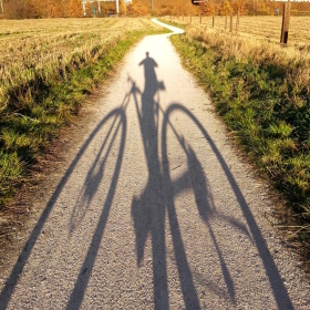 Dlouhý podzimní jezdec