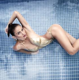Summer in pool..