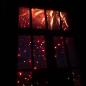 Světla za oknem