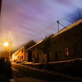 Noční čarovná atmosféra.