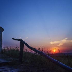 západ slunce na Hradišťku