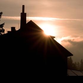 Východ slunce nad Barborkou