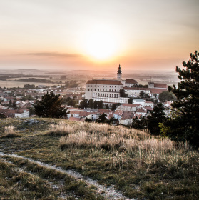 Mikulovský západ slunce ze Svatého kopečku