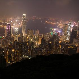 Svítící Hong Kong