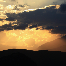Západ slunce v Zagorii