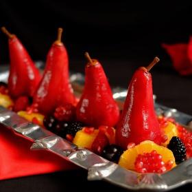 Marinované hrušky s ovocím