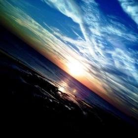 Západ slunce v Anglii