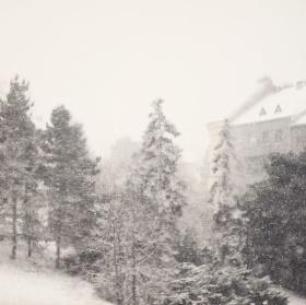 Když v Praze sněží ...