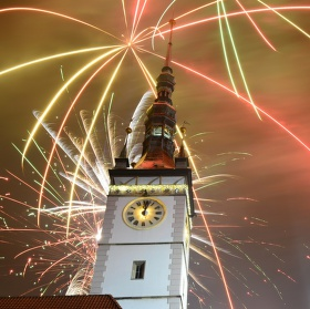 Oslava nového roku v Olomouci