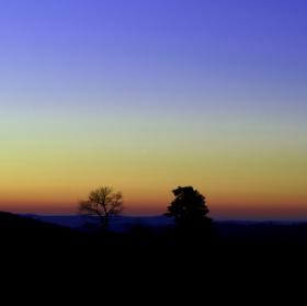 Prosincový západ slunce
