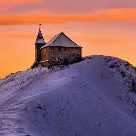 Zamrzlý kostel v Rakousku