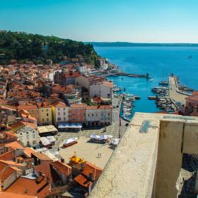 Pohled na letní Piran