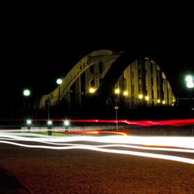 Večerní jízda kolem Darkovského mostu