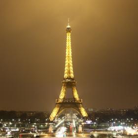 Zimní noc v Paříži