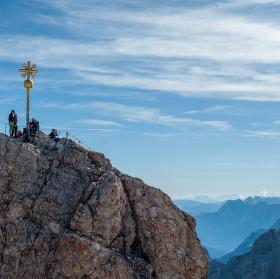 vrchol Zugspitze 2966m