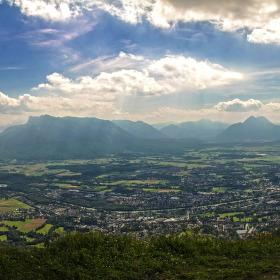 Pohled na Salzburg