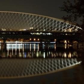 Noční Trojský most