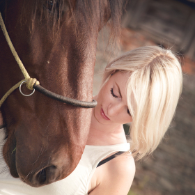 Blondie with the horse