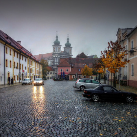 podzimní městečko