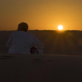 Noc v poušti
