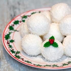 Zasnežené kokosové prekvapenie