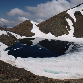 Ledovcové jezeroTebarray