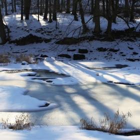 Řeka Oslava v zimě.....