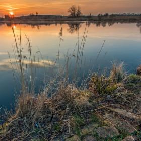 Poránu u rybníka